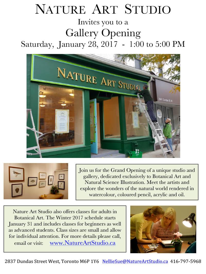 Nature Art Studio opening reception details